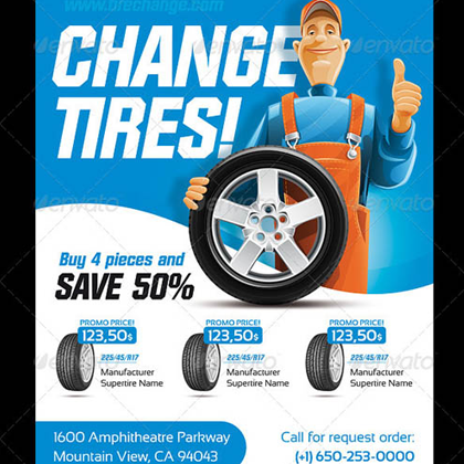 Tire Sales Flyer