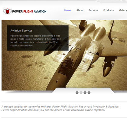 Power Flight Aviation Website